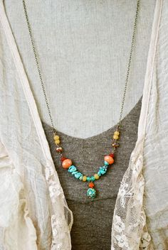 Liz+bohemian+beaded+long+necklace.+by+tiedupmemories+on+Etsy,+$42.00