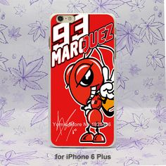 Marc Marquez 93 Marquez Cap Red Pattern hard White Skin Case Cover for iPhone 4 4s 4g 5 5s 5g 5c 6 6s 6 Plus