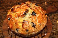 No-Knead Rosemary Olive Swiss Bread.