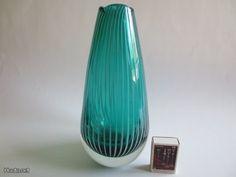 Riihimäen lasi, Nanny Still Teal, Turquoise, Glass Design, Scandinavian, Glass Art, Retro Vintage, Vase, Table Decorations, Antiques