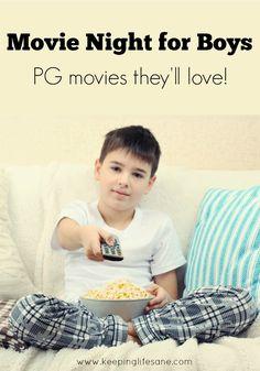 Movie Night for Boys - Keeping Life Sane