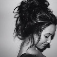 i want some long hair. so my buns look cute like this.