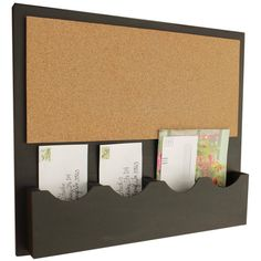 Cork Bulletin Board Cork Board Mail Organizer Cork Board Message... ($85) ❤ liked on Polyvore featuring home, home decor, office accessories, black, home & living, home décor, wall décor, wall hangings, cork board and cork bulletin board