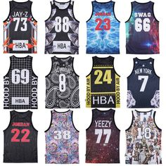 mens tank tops 3D print Jordan 23 basketball vest fit slim jersey sleeveless hba sports vest flower Novelty element swag clothes
