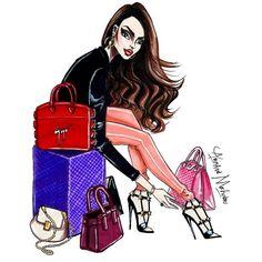 Fashion illustration inspired by @arminaarmi #FashionIllustration