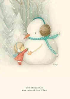 Ato Recover Do you wanna hug a snowman? Winter Illustration, Christmas Illustration, Children's Book Illustration, Christmas Art, Winter Christmas, Vintage Christmas, Frosty The Snowmen, Snowman, Clipart Noel