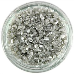 Pearly Silver Chunky Sugar Sprinkles from Layer Cake Shop!  Adds a very pretty pearly silver sparkle to all your sweet goodies!