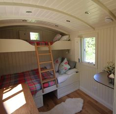 A home from home shepherd's hut holiday rental - Vanlife & Caravan Renovation Shepherds Hut Holidays, Glamping, House Bunk Bed, Camping Pod, Campsite, Caravan Renovation, Tiny Spaces, Tiny House Living, Log Homes