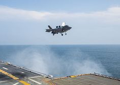 ATLANTIC OCEAN (Aug. 12, 2013) An F-35B Lightning II aircraft undergoes testing aboard the amphibious assault ship USS Wasp (LHD 1) during the second at-sea F-35 developmental test event. The F-35B is the Marine Corps variant of the Joint Strike Fighter and is undergoing testing aboard Wasp. (U.S. Navy photo by Mass Communication Specialist 3rd Class Markus Castaneda)