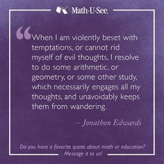 Wow. Really? Who could have seen *that* coming? Jonathan Edwards #MathQuote