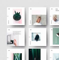 EVA Social Media Pack - Finance tips, saving money, budgeting planner Instagram Feed Layout, Feeds Instagram, Instagram Grid, Instagram Post Template, Instagram Design, Instagram Posts, Social Media Template, Social Media Design, Social Media Poster