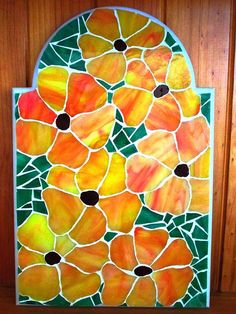 Flowers Everywhere Stained Glass Mosaic | Stained Glass ...