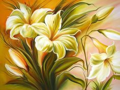 Rose Lily, Acrylic Painting Techniques, Arte Floral, Fabric Painting, Pretty Pictures, Flower Art, Beautiful Flowers, Art Projects, Art Drawings