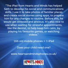 How an iPad is helping Seth Social Stories, Heart And Mind, Ipads, Anxious, Stress, Mindfulness, Psychological Stress, Consciousness