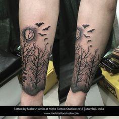 #tree #bats #moonlight