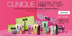 Clinique Bonus at Macy's is starting today. Spend $28 to choose one of these seven-piece gifts.