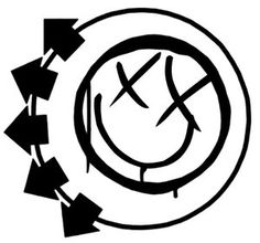 Blink 182 logo, right shoulder blade