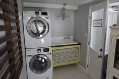 Nice to see there is hope for my laundry room. This one is set up very similar only mine is smaller and unfinished.