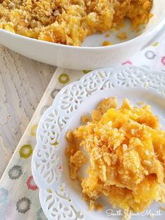 A sweet, savory, Southern casserole recipe with pineapple, buttery Ritz crackers and sharp cheddar cheese traditionally served with baked ham. Easy Corn Casserole, Loaded Mashed Potato Casserole, Pineapple Casserole, Casserole Recipes, Easter Dinner Recipes, Holiday Recipes, Holiday Foods, Family Recipes, Christmas Recipes