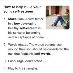 Mommys Boy, Make Time, Self Esteem, Acceptance, Encouragement, Words, Children, Young Children, Boys