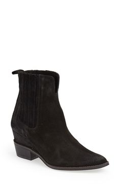 Matisse 'Meyer' Hidden Wedge Boot (Women) Black Suede Size 7 M on Vein - getVein.com
