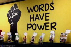 This would be great for Social Issue Unit of Study Words Have Power {Book Display}