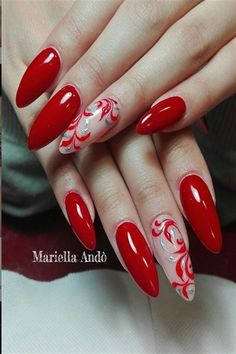 30 Festive Red Nail Art Ideas For Christmas
