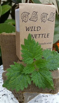 =DETAILS=-  Our soaps are all handmade, handcut and handpackaged. Weight - 110 grams/4 oz.  Description - The Wild Nettle soap brownish-green