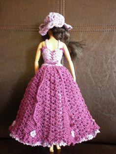 My First Fancy Crochet Barbie Dress - Rebeckah's Treasures