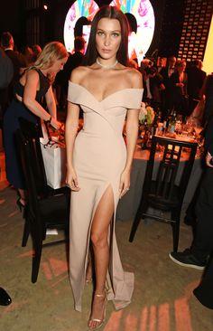 Bella Hadid in custom Hugo Boss at the GQ Brit Awards 2016