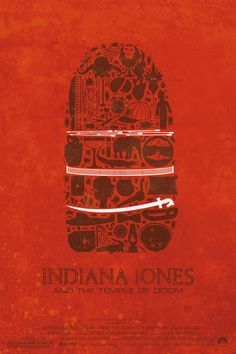 Maxime Precourt designed these minimalist posters for the first three Indiana Jones films