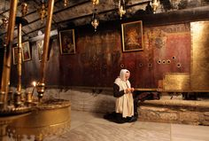 The Church of the Nativity in Bethlehem is the traditional birthplace of Jesus