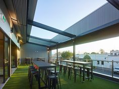 roma-royal-3 The roof deck offers a variation on the classic beer garden. Photo: Scott Burrows    With the two-storey and now multi-venue building with the wide-spreading roofline having recently won the premiere Building of the Year award in the 2017 Darling Downs West Moreton Regional Architecture Awards