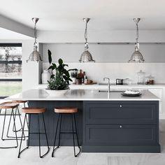 Kitchen Bar Design, Kitchen Styling, Interior Design Kitchen, Kitchen Diner Designs, Open Plan Kitchen Living Room, Home Decor Kitchen, Home Kitchens, Kitchen Ideas, Remodeled Kitchens