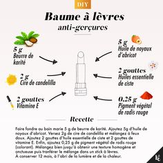 How to make a anti-chapping lip balm? - DIY - In summer as in winter the lips are subjected to severe test. When they are chapped, they are dehyd - Lip Care, Face Care, Body Care, Diy Beauté, Diy Lip Balm, Wie Macht Man, Home Remedies For Acne, Homemade Cosmetics, Diy Skin Care