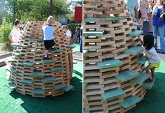 Love this! Sculptural play beehive. Free DIY instructions available.