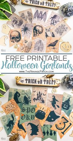 These 7 free printable Halloween garlands are perfect to hang above your creepy displays across your cobwebbed windows . Halloween Images Free, Halloween Photos, Halloween Kostüm, Diy Halloween Banner, Vintage Halloween Costumes, Halloween Bottles, Halloween Inspo, Halloween Clipart, Halloween Pumpkins