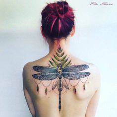 """tattoofilter: """"Dragonfly tattoo on the upper back. By Pis Saro, done at Sevastopol """""""