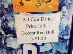 All can drink is $1