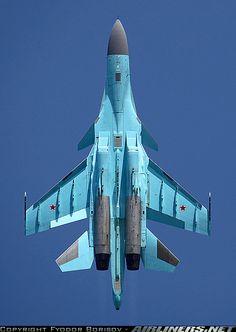 Sukhoi Su-34 from below