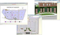 Le logiciel intègre un système de cartographie pour tous les emplacements en location afin de faciliter la gestion et la géolocalisation des concessions. http://www.gescime.com/cartographie-cimetieres.htm