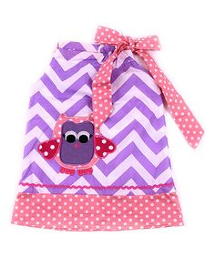 Look what I found on #zulily! Pink & Purple Owl Pillowcase Dress - Infant, Toddler & Girls #zulilyfinds