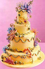 Afbeeldingsresultaat voor yellow blue green cake