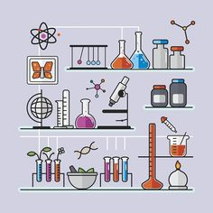 Illustration of chemistry laboratory F**k yeah, SCIENCE! Science Icons, Science Education, Science Art, Science Doodles, Science Room, Physical Science, Earth Science, Science Experiments, Chemistry Drawing