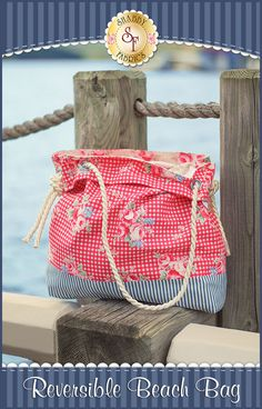 Reversible Beach Bag Kit: This reversible bag is perfect for your getaway at the beach! Measuring at approximately 17