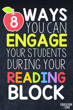8 Ways to Engage Your Students During Your Reading Block - My Fourth Grade Classroom - Education Reading Centers, Reading Groups, Reading Workshop, Student Reading, Reading Strategies, Reading Activities, Reading Skills, Guided Reading, Teaching Reading