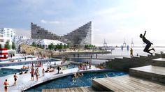 21 Jaw Dropping Architectural Renderings by Bjarke Ingels Group BIG_Aarhus Waterfront, Denmark