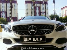 W205 × C43 AMG alike Diamond Grille & roof + side Mirror in black :) Free installation + GST Free @ Horch Motorsports 017-210 5779. #W205 #AMG #CClass #Mercedes #Benz #HorchMotorsports #Motorsport