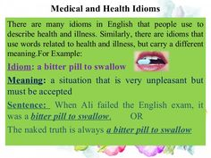 medical idioms with images to share - Google Search