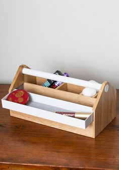 Tool Thyme Organizer. Youre off to the garden with this toolbox-inspired organizer to add to your culinary collection! #multi #modcloth